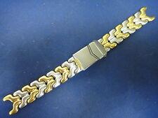 2 tone Gold Matte S Steel bracelet band strap (FITS) TAG Heuer LINK SEL series