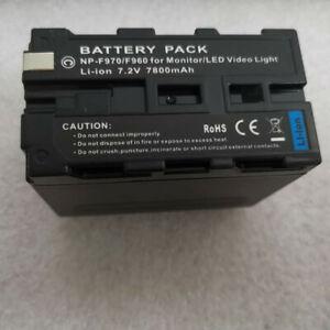 NP-F970 NP-F960 F970A F960A 7800mAh 7.2V Battery For Sony NP-F970 F960 Camera