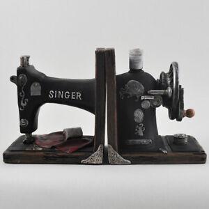 Vintage Singer Sewing Machine Book Ends   Resin Shelf Tidies