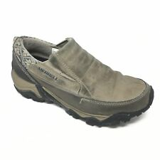 Women's Merrell Boulder Loafers Shoes Size 7.5 Outdoor Trail Gray Beige Black X5