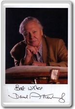 David Attenborough Autographed Preprint Signed Photo Fridge Magnet