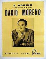 DARIO MORENO - AFFICHE ORIGINALE DE CONCERT – BOBINO - TRÈS RARE - 1961