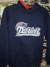 NFL NEW ENGLAND PATRIOTS REEBOK EMBROIDED HOODY HOODIE NEW YOUTH SMALL  NWT