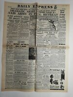 N215 La Une Du Journal Daily Express 5 novembre 1942, dramatic night