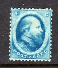 Netherlands 1864, Scott #4, 5c Blue, Mint, Original Gum, Hr / Pr
