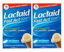 2 PACK Lactaid Fast Act Lactase Enzyme Supplement 60CT 300450910608DT