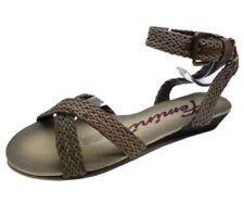 Sandali e scarpe zeppe senza marca marrone per il mare da donna