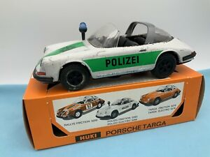 # Huki 5263 Porsche Targa Polizei  In OVP 60er (64817) Blechspielzeug