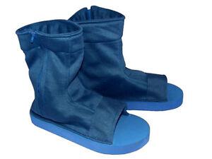 Naruto Shippuden Cosplay Costume Shinobi Blue Ninja Shoes Sandals