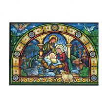 Set of 2 Christmas Story Greeting Cards with Nativity Scene