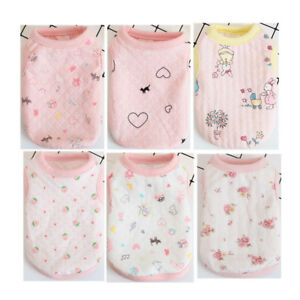 6PCS Lot Wholesale Girl Teacup Dog Clothes Pet Puppy T Shirt for Chihuahua Cat