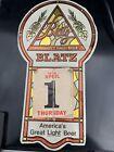"1976 Blatz Beer Advertising Calendar Sign 17.5""x9.75"" Bar Mancave"