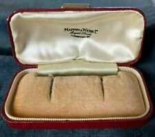 Antique empty jewellery box - Mappin & Webb, London