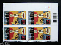Sc # 3503 ~ PL # BLK ~ 34 ct DIABETES AWARENESS ISSUE (bk10)