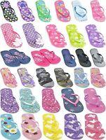 FLIP FLOPS GIRLS BOYS KIDS JELLY SANDALS BEACH SPORT SIZE 9 10 11 12 13 1 2 3