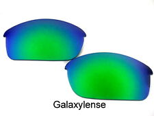 Galaxy Replacement Lenses For Oakley Flak Jacket Sunglasses Emerald Green
