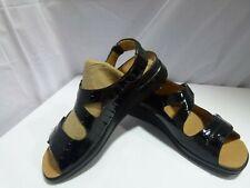 Brand New Walkon Sandals Black Deck 2 Croc- Paten