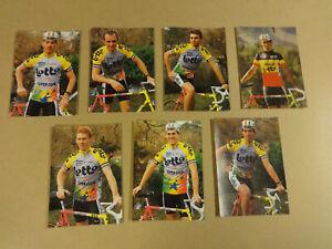 CYCLING - CYCLISME - WIELRENNEN / 7 POSTCARDS LOTTO SUPER CLUB MBK MAVIC 1990