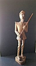 Vintage Hand Carved Spain Wooden 23''Tall Don Quixote/Quijote Sculpture Figurine