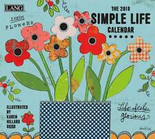 2018 Lang Calendar SIMPLE LIFE New Wall Calender Fits Wall Frame FREEPOST Col...