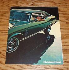 Original 1970 Chevrolet Nova Facts Features Sales Sheet Brochure 70 Chevy
