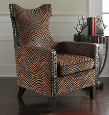 LARGE NEW HIGH BACK ANIMAL PRINT ACCENT LOUNGE CLUB CHAIR CONTEMPORARY SAFARI