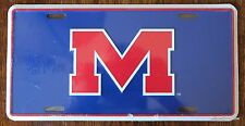 New University Ole Miss Rebels Licensed College Metal License Plate Car Tag