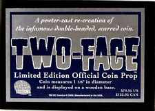 DC Comics Two-Face Limited Edition Official Coin Prop and Base DC Direct 2000 .