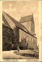 LYCHEN Uckermark um 1924 Partie an der Johaniskirche Kirche Church alte AK