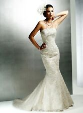 Maggie Sottero 'Phillipa' Straples Fishtail Lace wedding dress. 14.  Sample.