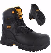 Mens MAGNUM Waterproof Tactical Safety Steel Toe Cap Military Combat Black Boots