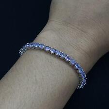 World Class 7.20ctw Tanzanite 925 Sterling Silver Bolo Bracelet 8.9g