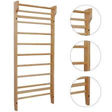 Sprossenwand Holz Kletterwand Turnwand Klettergerüst für Heimsportgerät Fitness