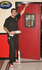 """Traffic Door 36""""x 80"""". Red Restaurant Kitchen Swing Door, Swinging Doors New."""