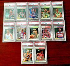 (22) 1987 Fleer Basketball PSA Graded PSA Lot (5) 6's (5) 7's & (12) 8's