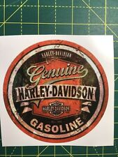 Harley Davidson Gasoline  Sticker / Badge /Logo/ Emblem