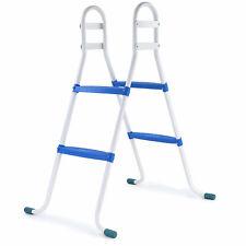 Poolleiter Pool Swimmingpool Leiter mit 2 Stufen Blau universal bis 85cm