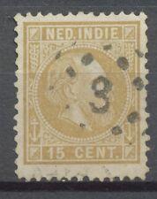 Nederlands Indië  11 F gebruikt met puntstempel 3 (Soerabaija)