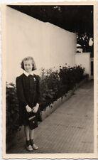 PHOTO Pochette en cuir Appareil Photographié Caméra Étui Petite Fille 1960