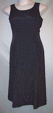 Kathie Lee Multi-Color Polka Dot Polyester Sleeveless Midi Shift Dress Sz 8