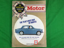 The Motor Magazine October 16 1963 Motor Show Car by Car Guide