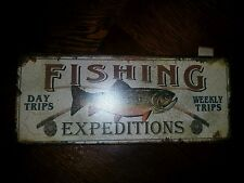 Fishing sign gone fishing man cave Den cabin