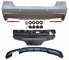 M-PERFORMANCE STYLE REAR BUMPER & DIFFUSER FOR BMW F30 2012-2017(-00----)