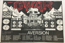 23 x 33 GWAR GERMANY TOUR POSTER WITH AVERSION