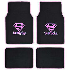 Supergirl Car Floor Mats 4 PC Officially Licensed Products Auto Carpet Mats