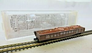 Micro-Trains Z 52200211 Lehigh Valley Flachbordwagen With Charge Boxed