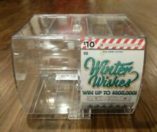 2 Lottery Scratch Ticket Display Case Box Dispenser Unit Key Clear Plastic #2