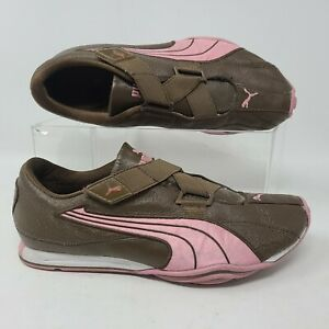 Puma Mostro Size 7 Brown Leather Womens Z Strap Running Shoes
