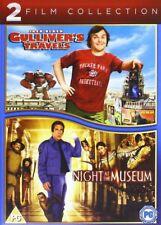 GULLIVERS TRAVELS & NIGHT AT THE MUSEUM JACK BLACK BEN STILLER UK DVD NEW SEALED