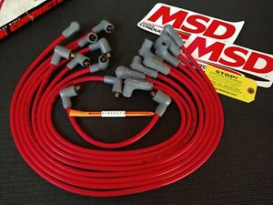 NEW MSD 61-74 CHEVY SB 8.5MM SUPER CONDUCTOR 90 DEGREE BOOTS WIRE SET #31659